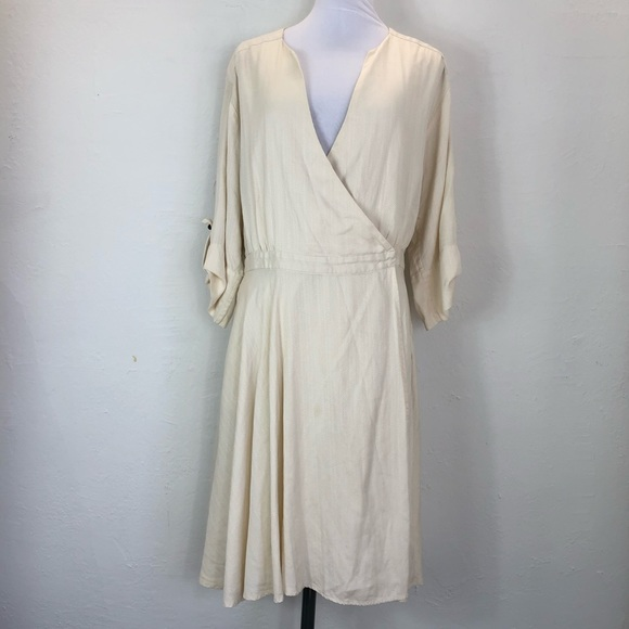 Milly Dresses & Skirts - Vintage Milly cream colored Silk Wrap Dress